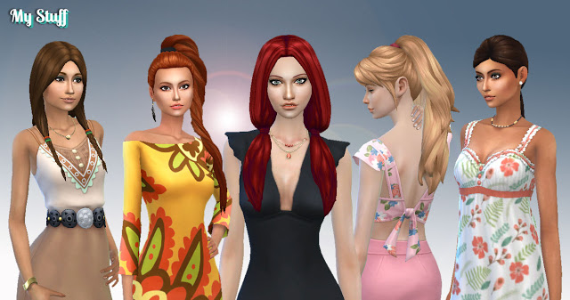 Tied Hairs Pack 5 at My Stuff image 1794 Sims 4 Updates