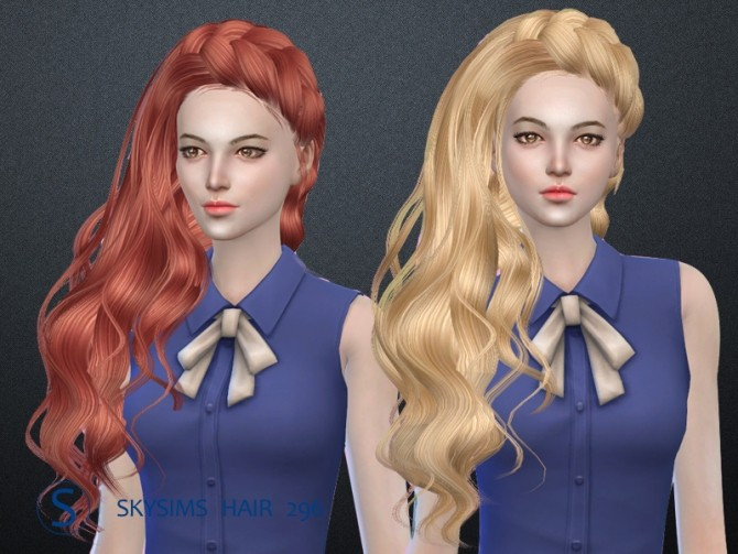 Sims 4 Hair 296 (Pay) by Skysims at Butterfly Sims