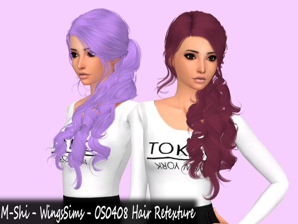 Sims 4 M Shi WingsSims OS0408 Hair Retexture by mikerashi at TSR