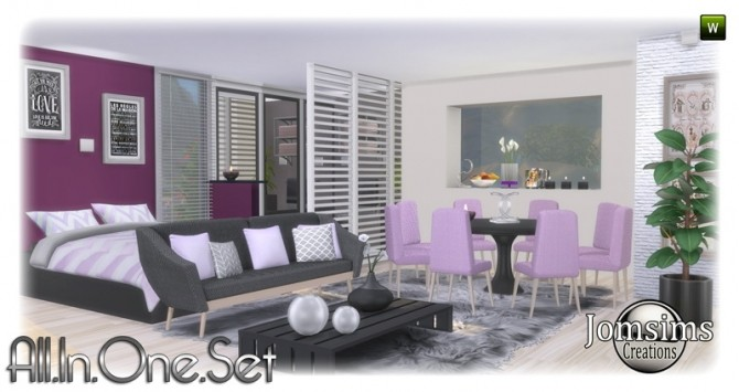 All in one corner set at Jomsims Creations image 1857 670x355 Sims 4 Updates