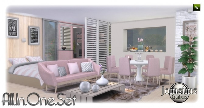 All in one corner set at Jomsims Creations image 1866 670x355 Sims 4 Updates