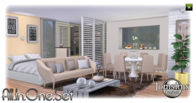 All in one corner set at Jomsims Creations image 1877 670x355 Sims 4 Updates