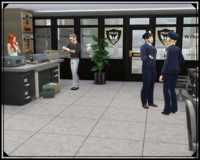 Sims 4 Willow Creek Police station at Nagvalmi