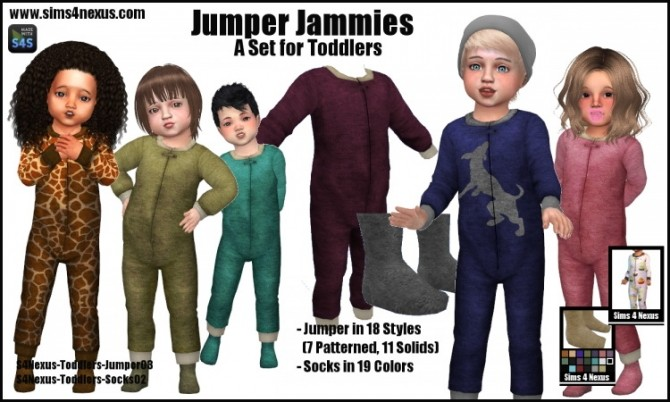 Jumper Jammies by Samantha Gump at Sims 4 Nexus image 189 670x402 Sims 4 Updates