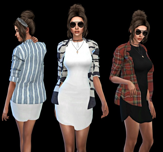Sims 4 Chisamis Accessory Shirt recolors at Leo Sims