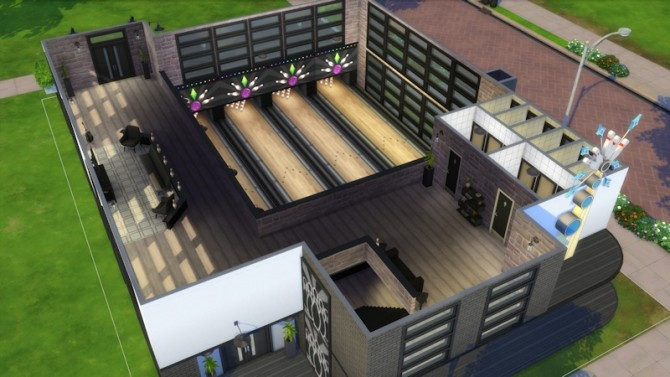 Bowling Night Bar by LaLunaRossa at About Sims image 1906 670x377 Sims 4 Updates