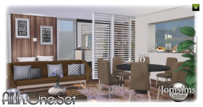 All in one corner set at Jomsims Creations image 1907 670x355 Sims 4 Updates