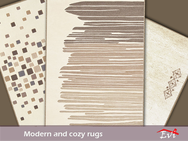 Sims 4 Modern and Cozy rugs by evi at TSR