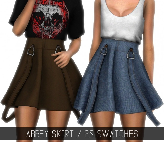 Sims 4 ABBEY SKIRT at Simpliciaty