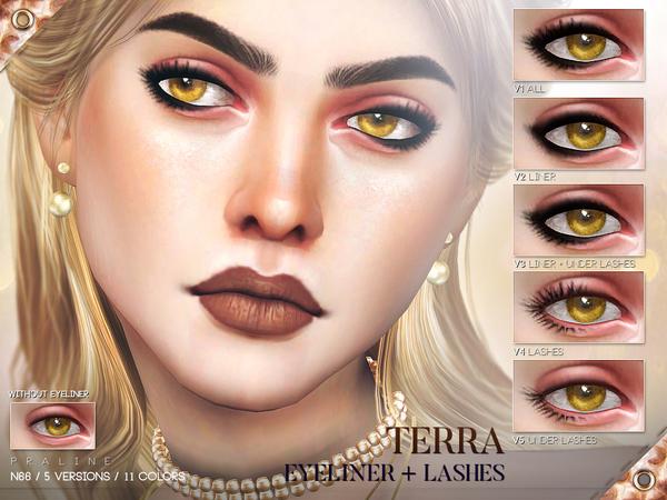 Terra Eyeliner N66 by Pralinesims at TSR image 1924 Sims 4 Updates