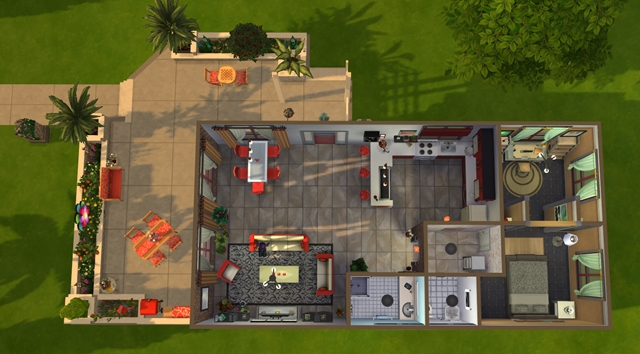 Little Brick house by Meryane at Beauty Sims image 1925 Sims 4 Updates
