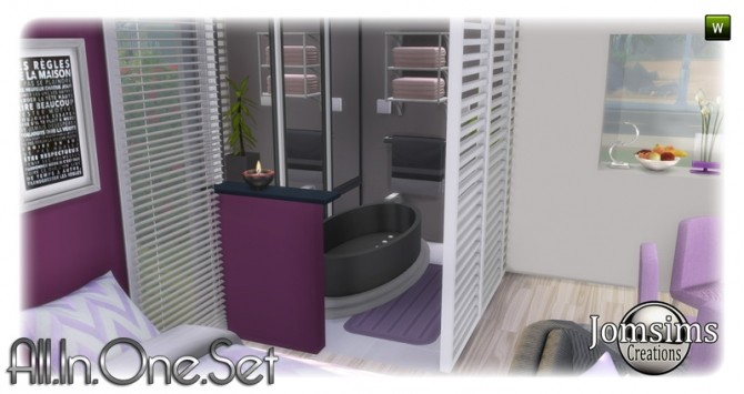 All in one corner set at Jomsims Creations image 1937 670x355 Sims 4 Updates