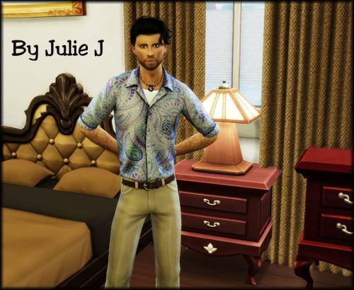 Sims 4 SLYD Cuban Shirt Revamp at Julietoon – Julie J