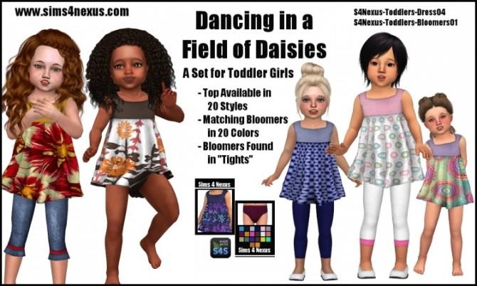 Sims 4 Dancing in a Field of Daisies set by Samantha Gump at Sims 4 Nexus