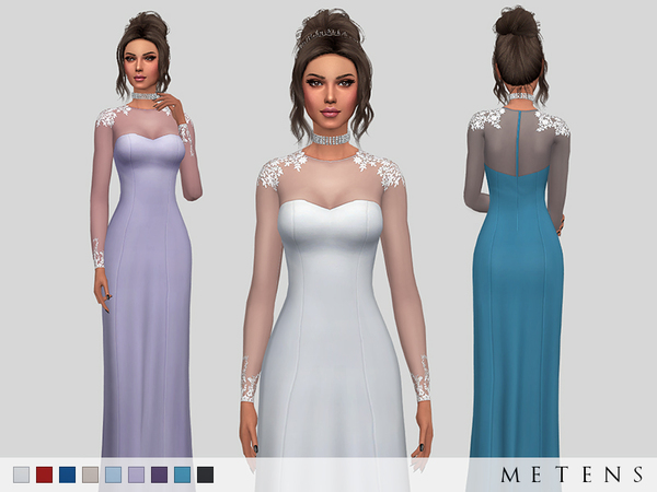 Eleanor Dress by Metens at TSR image 20 Sims 4 Updates
