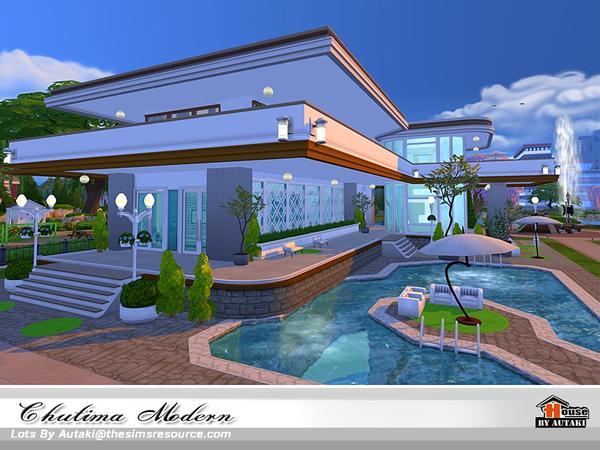 Sims 4 Chutima Modern house by autaki at TSR