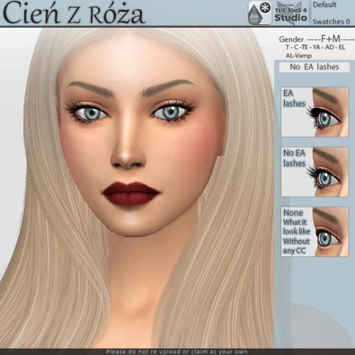 No EA Eyelashes at Cień z róża image 2047 Sims 4 Updates