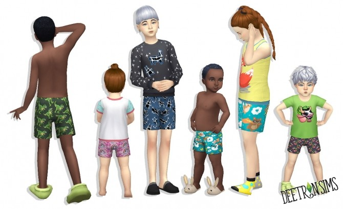 Shorts for kids and toddlers at Deetron Sims image 2056 670x410 Sims 4 Updates