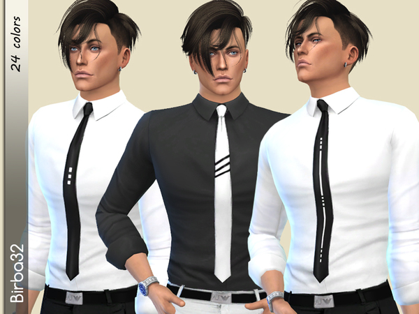 Bill Shirt by Birba32 at TSR image 2130 Sims 4 Updates