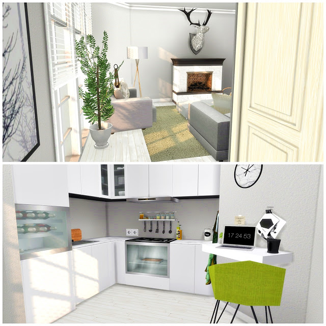 Sims Stuff 4 Kitchen: Kitchen With Livingroom At Liney Sims » Sims 4 Updates