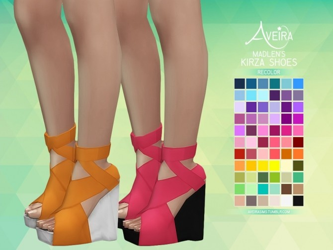 Sims 4 Madlen's Kirza Shoes Recolor at Aveira Sims 4