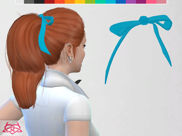 Poodle Set: skirt, blouse, shoes, hair, hair bow, neckerchief at TSR image 2212 Sims 4 Updates