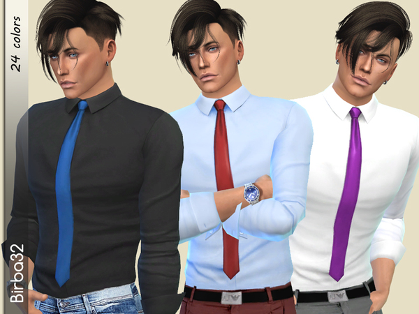Bill Shirt by Birba32 at TSR image 2229 Sims 4 Updates