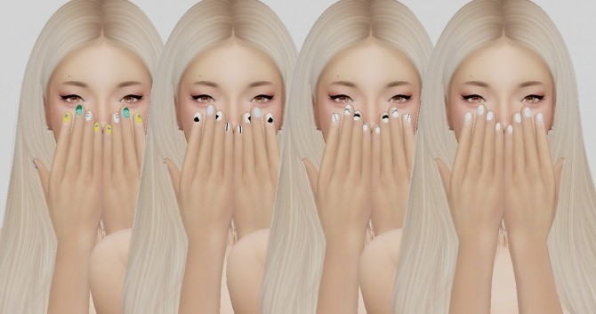 BY2OLs Nails Recolors by catsblob at SimsWorkshop image 223 670x353 Sims 4 Updates