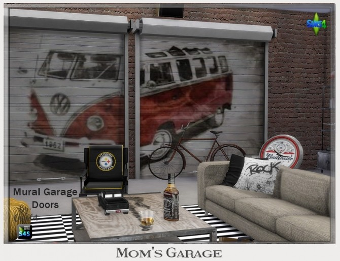 Sims 4 Moms Garage Living Room at Chicklet's Nest