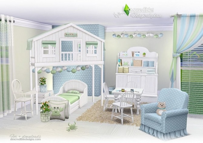 Magical Place Kids Room At Simcredible Designs 4 187 Sims 4
