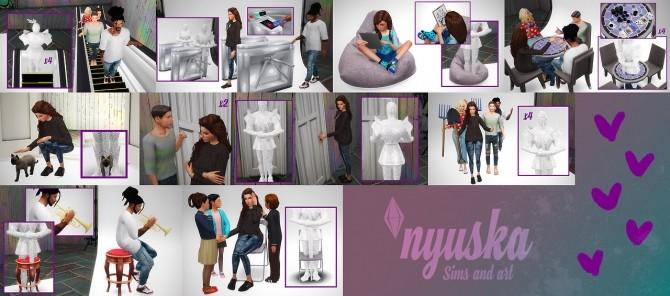 Sims 4 Pose pack collection 3 at Nyuska