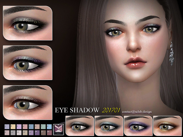 Eyeshadow 201701 by S Club LL at TSR image 2326 Sims 4 Updates