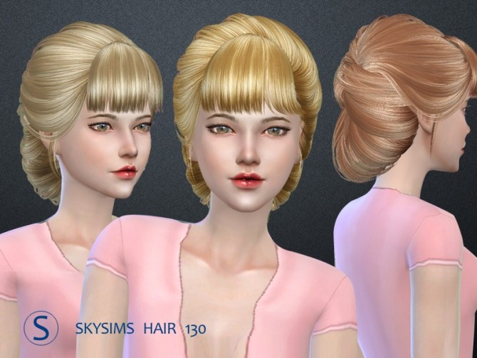 Sims 4 Hair 130 (Pay) by Skysims at Butterfly Sims