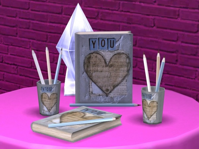 Romantic Writer set at Soloriya image 2354 670x503 Sims 4 Updates