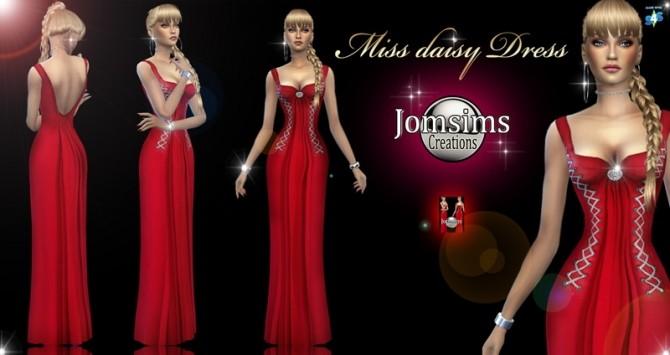 Sims 4 Miss daisy dress at Jomsims Creations