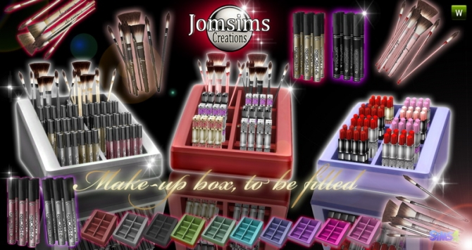 Make Up Box To Be Filled Set At Jomsims Creations 187 Sims 4