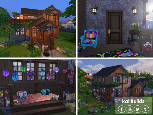 Sims 4 Bohemian Family House by kaly t07 at TSR
