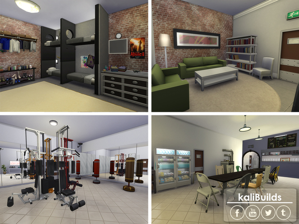 Sims 4 Underground Military Research Base by kaly t07 at TSR