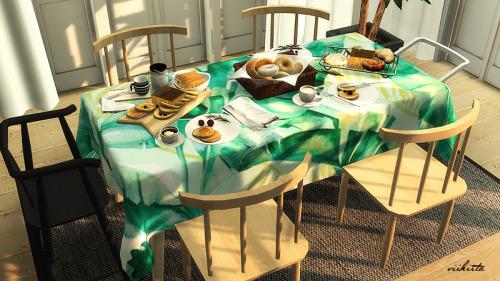 Tropical Table Clothes at Viikiita Stuff image 2502 Sims 4 Updates