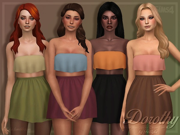 Dorothy Top by Trillyke at TSR image 251 Sims 4 Updates