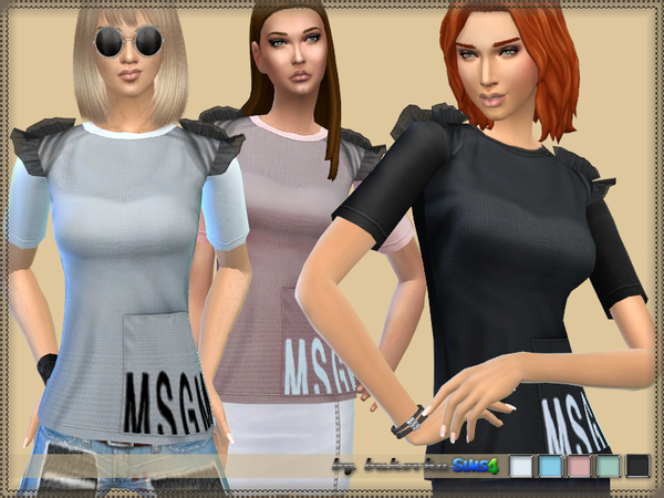 T shirt & Wings MSGM by bukovka at TSR image 2519 Sims 4 Updates