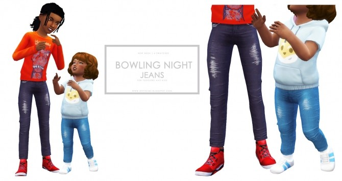 Bowling Night Skinny Jeans for Kids and Toddlers at Onyx Sims image 256 670x355 Sims 4 Updates