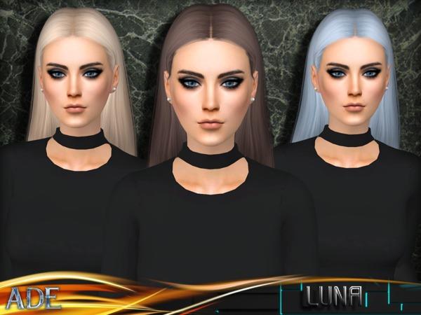 Sims 4 Luna hair by Ade Darma at TSR