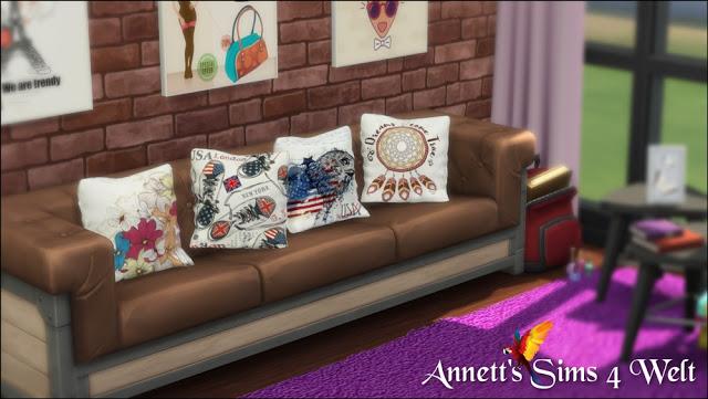 Sims 4 30 Modern Art Pillows Part 2 at Arte Della Vita