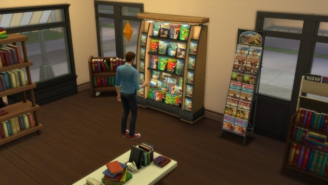 Sims 4 Functional Book Display Sims 2 conversion by AlexCroft at Mod The Sims