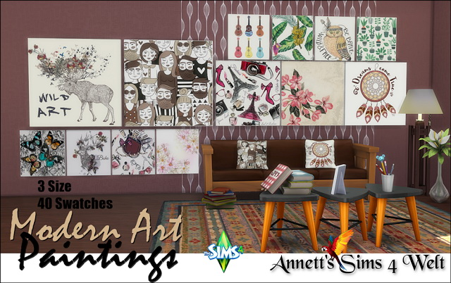 40 Modern Art Paintings Part 2 at Annett's Sims 4 Welt image 2861 Sims 4 Updates