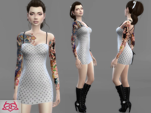 Sims 4 Mini dress 3 by Colores Urbanos at TSR