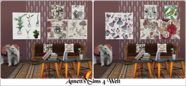 40 Modern Art Paintings Part 2 at Annett's Sims 4 Welt image 2891 Sims 4 Updates