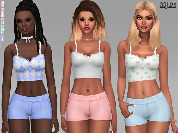 Sims 4 Joelle Outfit And Set by Margeh 75 at TSR