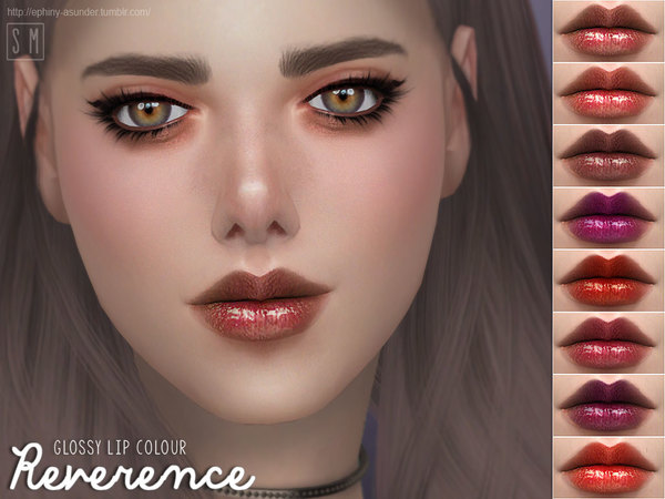 Reverence Glossy Lip Colour by Screaming Mustard at TSR image 3105 Sims 4 Updates